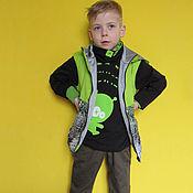 """Работы для детей, ручной работы. Ярмарка Мастеров - ручная работа """"Инопланетный гость"""". Комплект для мальчика. Handmade."""