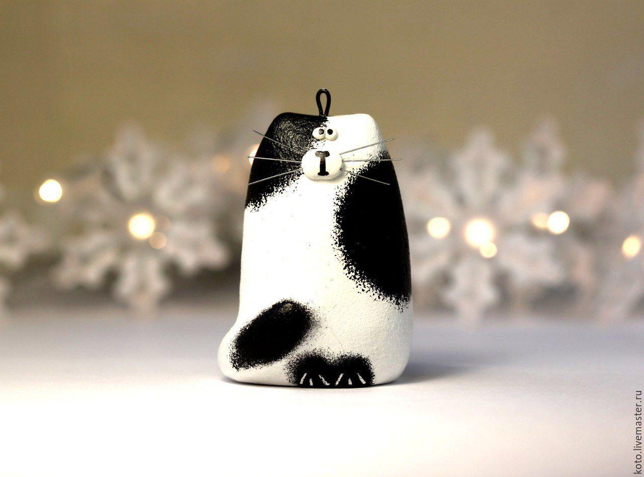 Ёлочная игрушка кот