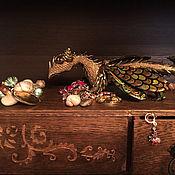 """Для дома и интерьера ручной работы. Ярмарка Мастеров - ручная работа Шкатулка дубовая """"Дракон и улитка"""". Handmade."""