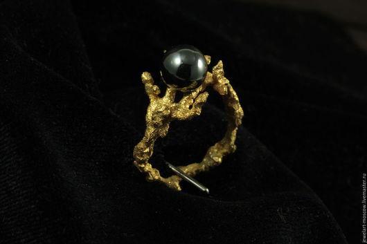 Кольца ручной работы. Ярмарка Мастеров - ручная работа. Купить Кольцо коралл / кольцо с гематитом / серебряное / кольцо / jewe. Handmade.