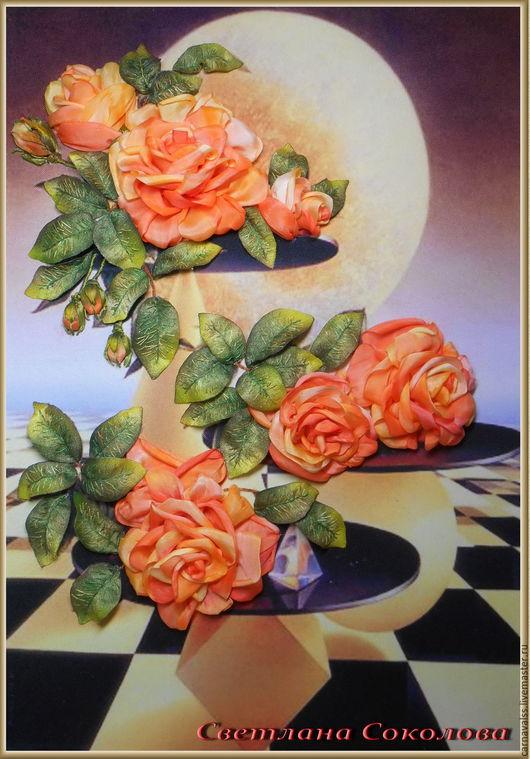"""Картины цветов ручной работы. Ярмарка Мастеров - ручная работа. Купить худ. Ilen Meyer серия """"Розовые фантазии"""" №1Розы. Handmade."""