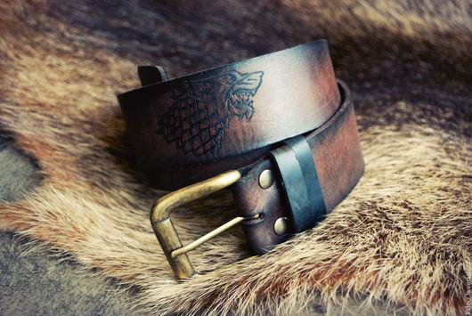 Пояса, ремни ручной работы. Ярмарка Мастеров - ручная работа. Купить Ремень из натуральной кожи Game of Thrones. Handmade.