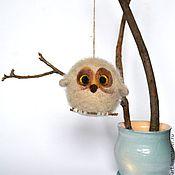 Куклы и игрушки ручной работы. Ярмарка Мастеров - ручная работа Декоративная войлочная игрушка - Сова. Handmade.
