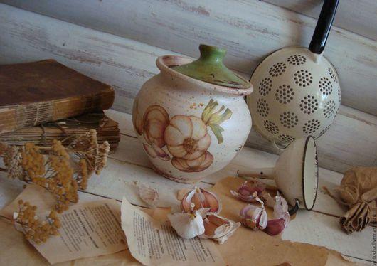 """Кухня ручной работы. Ярмарка Мастеров - ручная работа. Купить """"Сlove of garlic"""" Банка для чеснока. Handmade. Ретро, подарок"""