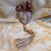 """Подарки к праздникам ручной работы. Ярмарка Мастеров - ручная работа Интерьерное сердце""""Рождественский ангел с птенцами"""". Handmade."""