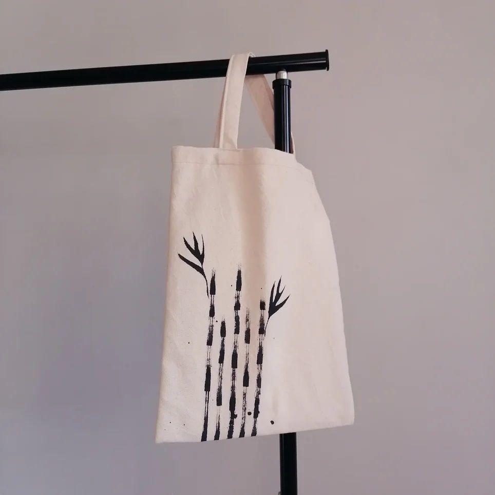 Shopping bag Bamboo, cotton, ink, Shopper, Kolomna,  Фото №1