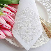 Подарки к праздникам handmade. Livemaster - original item Napkin with Embroidery