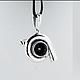 Серебряный кулон `TURBO`, настоящая турбина гоночного ДВС, Серебро 925, прекрасный подарок для любителей быстрой езды и романтических натур. Серебряные кулоны ручной работы `CRAZY SILVER`, СПБ.