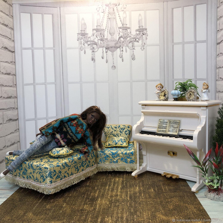 Кресло и пуфик, Мебель для кукол, Краснодар,  Фото №1