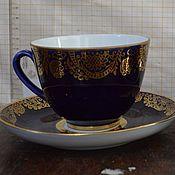 Винтаж handmade. Livemaster - original item Decorative vase LFZ cobalt. Handmade.