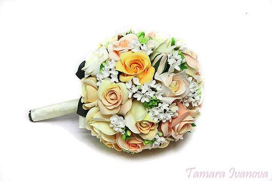 Свадебные цветы ручной работы. Ярмарка Мастеров - ручная работа. Купить букет невесты из роз. Handmade. Свадьба, комбинированный