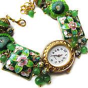 """Украшения ручной работы. Ярмарка Мастеров - ручная работа """"Сказка""""-20 наручные часы с бусинами клуазоне. Handmade."""