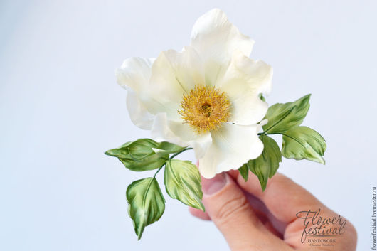 """Цветы ручной работы. Ярмарка Мастеров - ручная работа. Купить Шиповник-дикая роза """"Утро невесты"""" из шелка. Мастер класс. Handmade."""