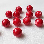 Материалы для творчества handmade. Livemaster - original item Coral 8 mm beads red imitation. Handmade.