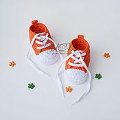 """Работы для детей, ручной работы. Ярмарка Мастеров - ручная работа Пинетки кеды """"Orange"""". Handmade."""