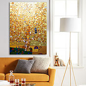 Картины и панно handmade. Livemaster - original item Gold bronze painting Tree of life. Gustav Klimt. Handmade.
