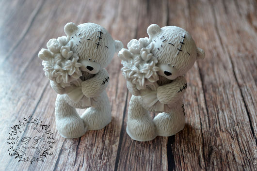 Мыло ручной работы. Ярмарка Мастеров - ручная работа. Купить Мыло Мишка Тедди с цветами. Handmade. Серый, мишка тедди