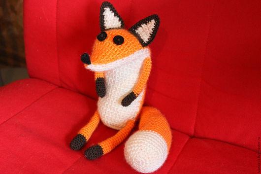 """Игрушки животные, ручной работы. Ярмарка Мастеров - ручная работа. Купить вязаный лис из"""" Маленького принца"""". Handmade. Рыжий"""