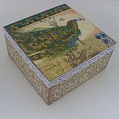 Для дома и интерьера ручной работы. Ярмарка Мастеров - ручная работа Чайная коробка ,, Жар прица,,. Handmade.