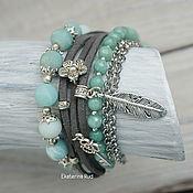 Украшения handmade. Livemaster - original item Beautiful,stylish women`s bracelet with stones
