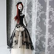 Куклы и пупсы ручной работы. Ярмарка Мастеров - ручная работа Интерьерная кукла Леди в черном. Handmade.