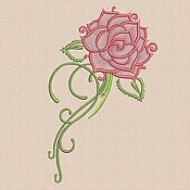 "Материалы для творчества handmade. Livemaster - original item Machine embroidery designs ""Rose_3"" bt040. Handmade."