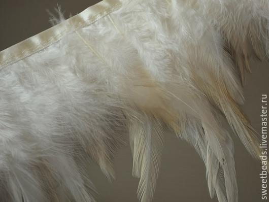 Другие виды рукоделия ручной работы. Ярмарка Мастеров - ручная работа. Купить Перья бахрома, слоновая кость. Handmade. Перья