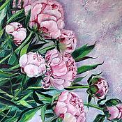 Картины и панно handmade. Livemaster - original item Painting with peonies oil, Peonies.. Handmade.