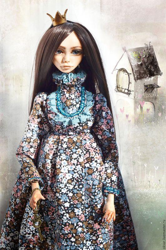 Коллекционные куклы ручной работы. Ярмарка Мастеров - ручная работа. Купить Авторская кукла Василиса. Handmade. Голубой, интерьерная кукла
