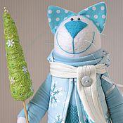 """Куклы и игрушки ручной работы. Ярмарка Мастеров - ручная работа Кот """"Новогодний"""". Handmade."""