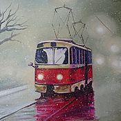 Картины и панно ручной работы. Ярмарка Мастеров - ручная работа Мокрый снег. Handmade.