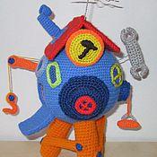 Куклы и игрушки ручной работы. Ярмарка Мастеров - ручная работа Вязаный домик Пина.. Handmade.