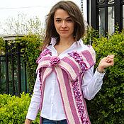 """Одежда ручной работы. Ярмарка Мастеров - ручная работа вязаный жилет """"Лепестки роз"""". Handmade."""