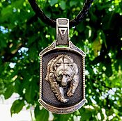 Украшения handmade. Livemaster - original item Bilateral Amulet / Pendant Veles of silver 925. Handmade.