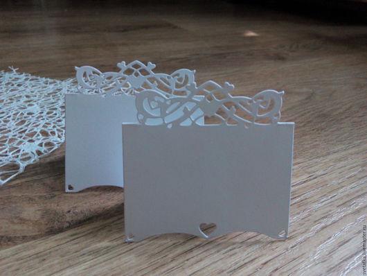 Открытки и скрапбукинг ручной работы. Ярмарка Мастеров - ручная работа. Купить !Рассадочная карточка -вырубка, дизайнерский картон. Handmade.