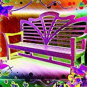 handmade. Livemaster - original item Garden BENCH in art NOUVEAU style (color). Handmade.