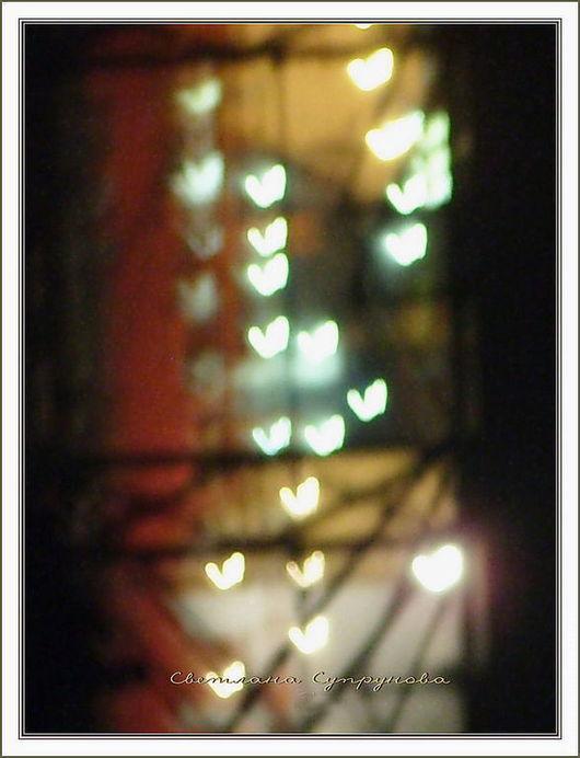 Фотокартины ручной работы. Ярмарка Мастеров - ручная работа. Купить ...Сердечные Огни ... ( авторская фотокартина для интерьера). Handmade. Город