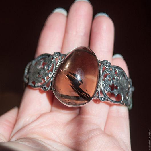 Браслеты ручной работы. Ярмарка Мастеров - ручная работа. Купить Раухтопаз (браслет) (148). Handmade. Камни натуральные, подарок женщине