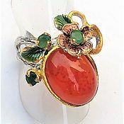 Украшения handmade. Livemaster - original item Handmade ring with natural carnelian