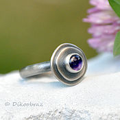 Украшения handmade. Livemaster - original item Silver amethyst ring Running on the waves, silver jewelry. Handmade.
