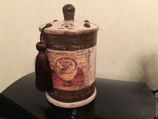 """Кухня ручной работы. Ярмарка Мастеров - ручная работа. Купить Бочонок для кофе """"Сладкие мгновения"""". Handmade. Бочонок, ручная работа"""