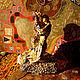 """Статуэтки ручной работы. Арт объект """"Влюбленные"""" по мотивам Климт """"Поцелуй"""". Статуэтка. Exclusive Art.Irina Bast. Интернет-магазин Ярмарка Мастеров."""