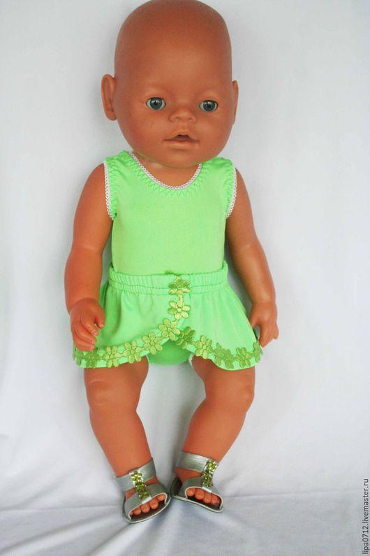 Одежда для кукол ручной работы. Ярмарка Мастеров - ручная работа. Купить Купальник с юбочкой. Handmade. Комбинированный, одежда для кукол, купальник