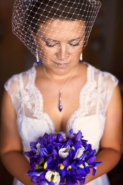 Одежда и аксессуары ручной работы. Ярмарка Мастеров - ручная работа. Купить Вуаль невесты (ручная работа). Handmade. Вуалетка невесты