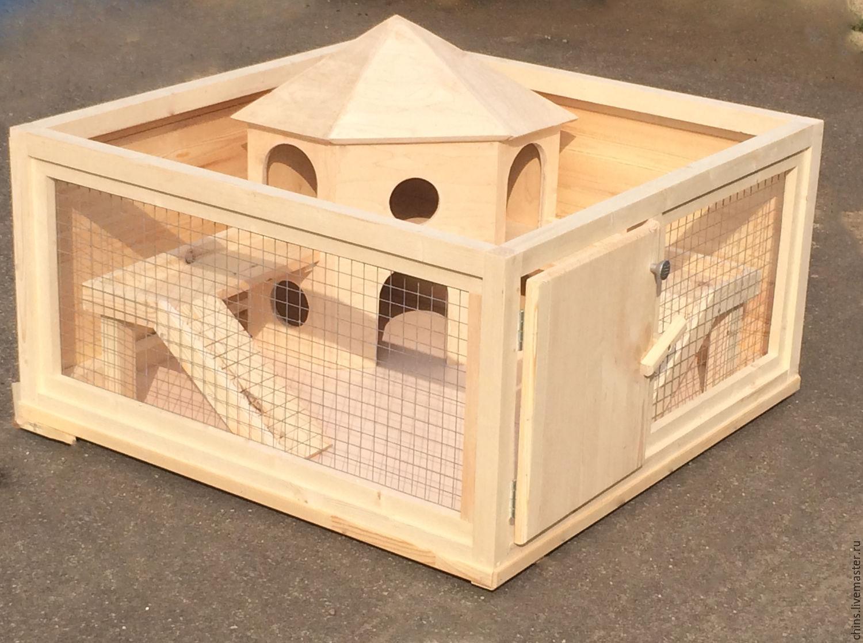 Сделать клетку для декоративных кроликов своими руками