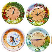 Часы ручной работы. Ярмарка Мастеров - ручная работа Часы из кедра серия Детские. Handmade.