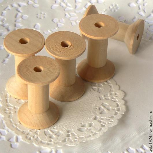 Шитье ручной работы. Ярмарка Мастеров - ручная работа. Купить Катушка деревянная, Н 50 мм. Handmade. Коричневый, прованс