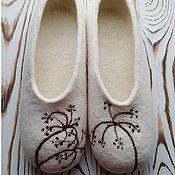 Обувь ручной работы. Ярмарка Мастеров - ручная работа Тапочки-балетки Сухоцветы. Handmade.