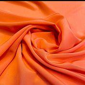 Материалы для творчества handmade. Livemaster - original item Fabric: Armani coral-red crepe silk. Handmade.