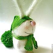 """Куклы и игрушки ручной работы. Ярмарка Мастеров - ручная работа Зайчик вязаный """"Белый"""". (Вязаные игрушки, сувениры, подарки). Handmade."""